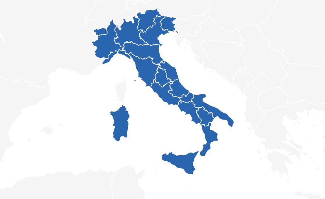 transporte nach italien